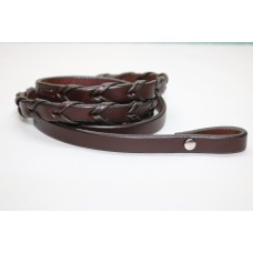 9-10 oz Rich Brown Chicago Screw Bridle Leather 7 ft